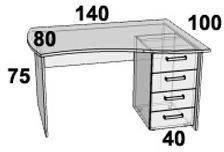 Стол ПР201.5 (левый, правый), фото 2