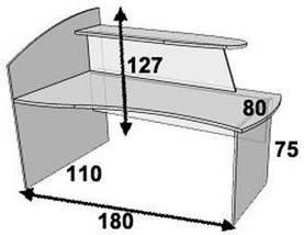 Стол ресепшн ПР300 (левый, правый), фото 2
