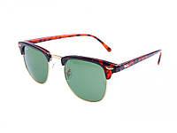 Молодежные солнцезащитные очки Ray-Ban Clubmaster Leopard. Хорошее качество. Практичные очки. Код: КДН1659