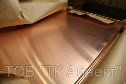 Медный лист 0.6х600х1500 мм М1