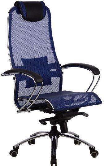 Кресло Самурай S1 Blue, синий, Сетка