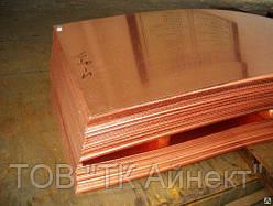 Медный лист М2 0.8х600х1500 мм доставка Новой-Почтой.