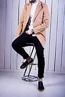 Мужское классическое пальто кашемировое весеннее бежевое