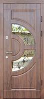 Двери входные Греция с стеклопакетом и ковкой