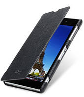 Кожаный чехол книжка Melkco для Sony Xperia Z1 C6902 черный, фото 1