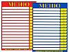 Ламинированные таблички-меню 30х20 см