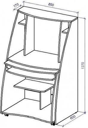 Стол компьютерный СТ-8 (СТ-8*), фото 2