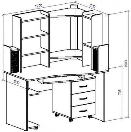 Стол компьютерный СТ-13 (СТ-13*), фото 2