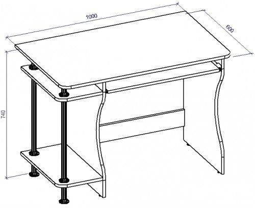 Стол компьютерный СТ-14 (СТ-14*), фото 2