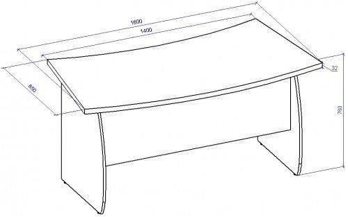 Стол для руководителя СТР-3, фото 2