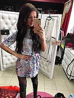 Женское модное шелковое платье с поясом (4 цвета)