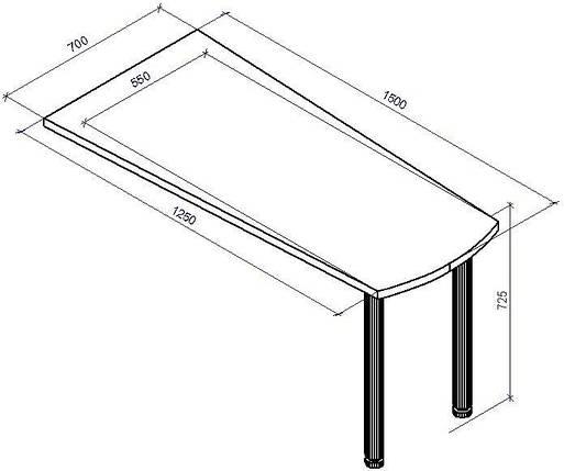 Стол приставной СП-13, фото 2