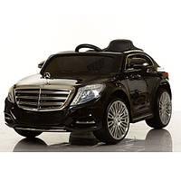 Детский электромобиль Mercedes Benz ZP 8003 EBLR-2 черный, мягкие колеса и кожаное сиденье
