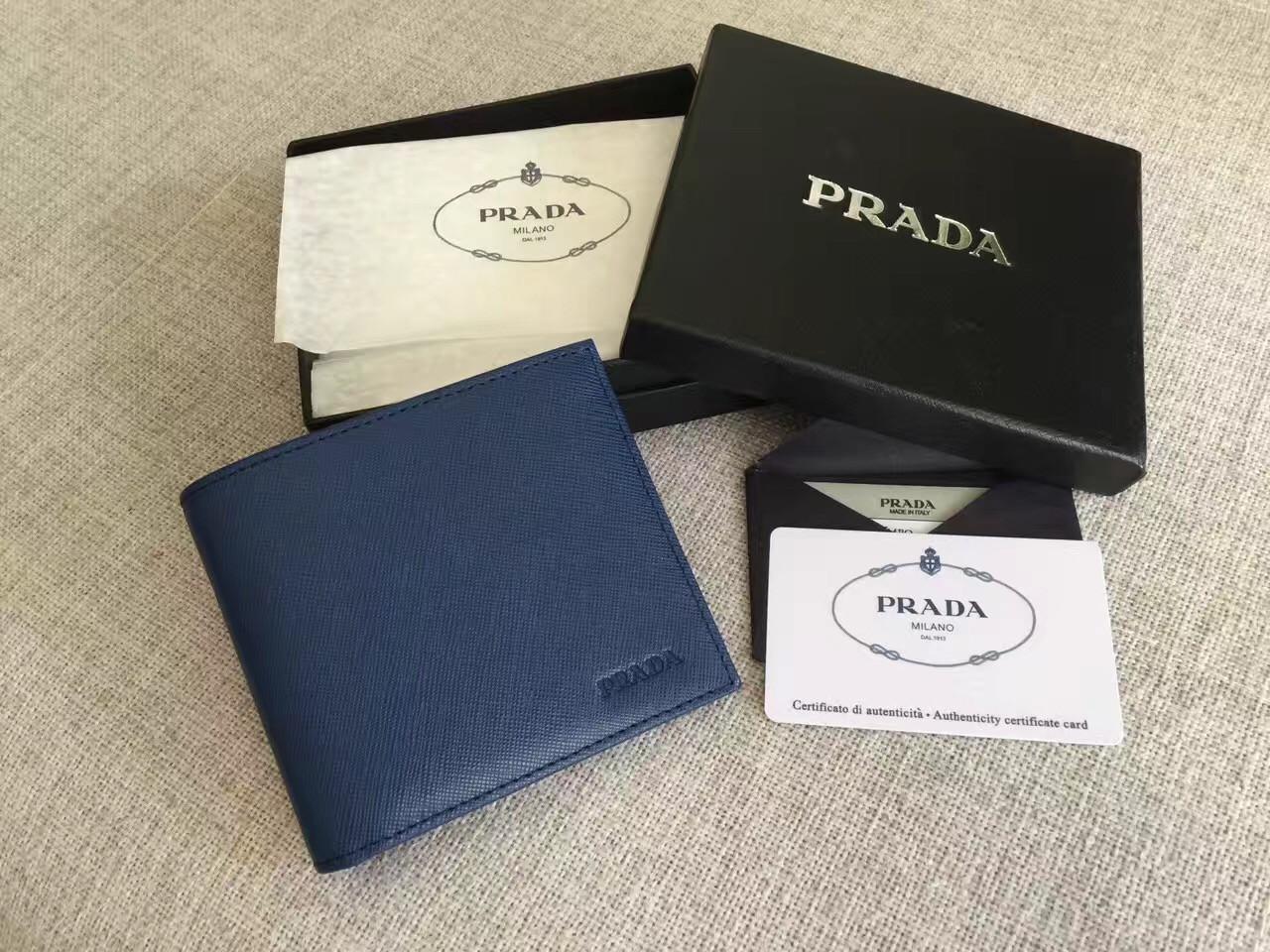 Prada - бумажник мужской кожаный