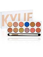 Тени для век Kylie Jenner the royal peach palette kyshadow 12 оттенков