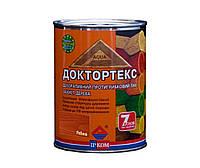 Лазурь-лак антисептический ІРКОМ ДОКТОРТЕКС ІР-013 для древесины, рябина, 0,8л