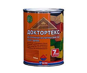 Лазурь-лак антисептический ІРКОМ ДОКТОРТЕКС ІР-013 для древесины рябина 0,8л