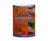 Лазурь-лак антисептический ІРКОМ ДОКТОРТЕКС ІР-013 для древесины, каштан, 0,8л