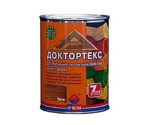 Лазурь-лак антисептический ІРКОМ ДОКТОРТЕКС ІР-013 для древесины каштан 0,8л