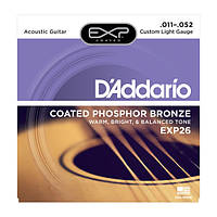 Струны D`ADDARIO EXP26 EXP PHOSPHOR BRONZE CUSTOM LIGHT 11-52