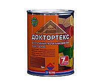Лазурь-лак антисептический ІРКОМ ДОКТОРТЕКС ІР-013 для древесины, орех, 0,8л