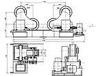 Самоцентрирующиеся сварочные вращатели серии HGZ-60 макс. грузоподъемность 60 тонн, фото 8