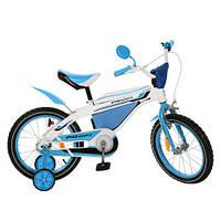 Велосипед PROFI детский 16 дюймов 16BX405-1 цвет бело-голубой