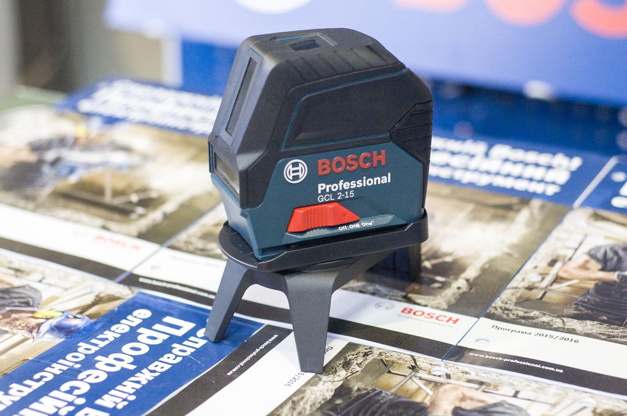 Лазерный нивелир комби (линейный + точечный) Bosch GCL 2-15, 0601066E00