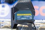 Лазерный нивелир комби (линейный + точечный) Bosch GCL 2-15, 0601066E00, фото 2