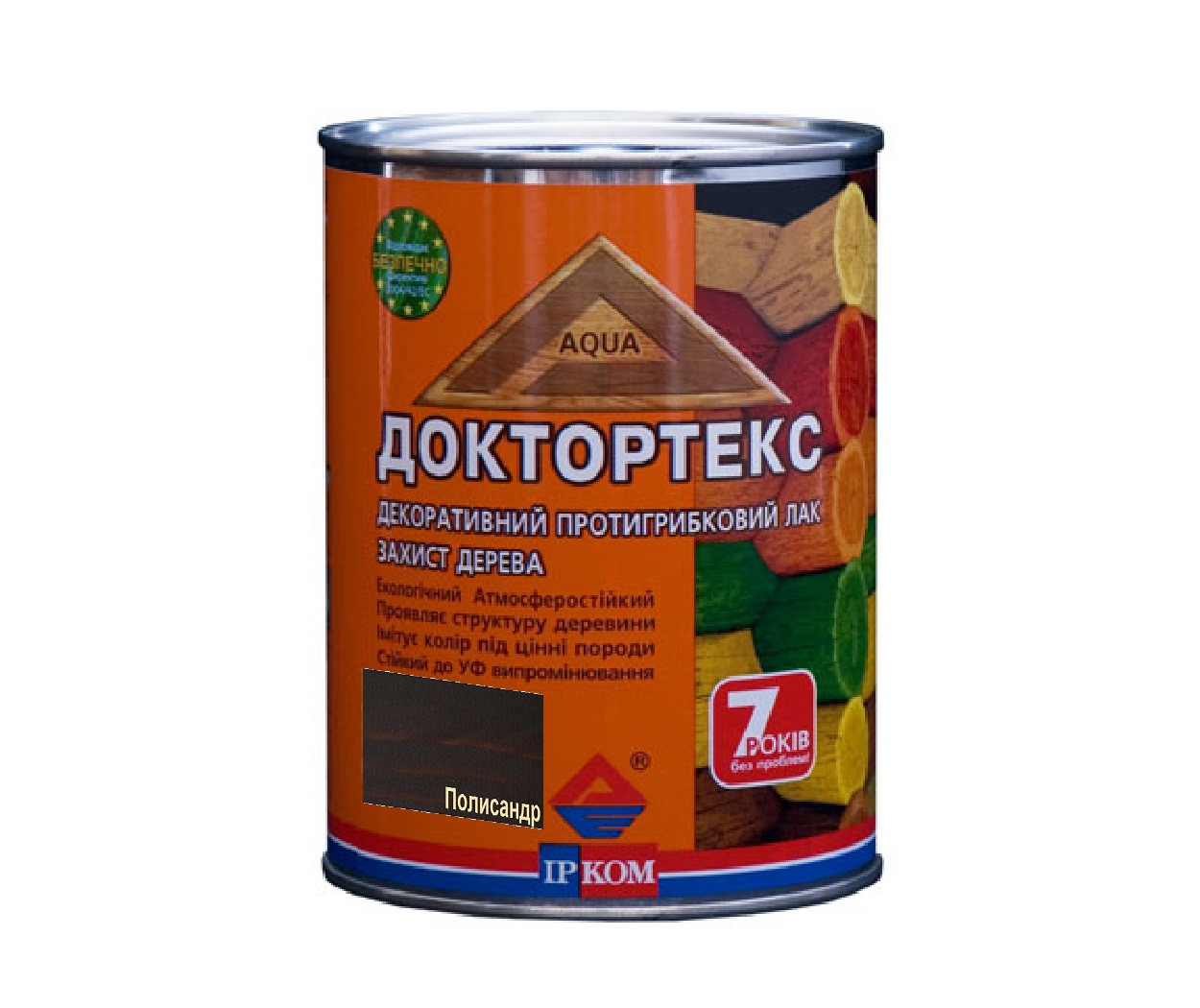 Лазурь-лак антисептический ІРКОМ ДОКТОРТЕКС ІР-013 для древесины полисандр 0,8л
