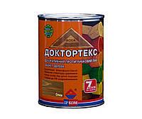 Лазурь-лак антисептический ІРКОМ ДОКТОРТЕКС ІР-013 для древесины, олива, 0,8л