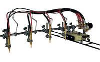 Четырех резаковая газорезательная машина на рельсах HUAWEI GCD4-100 для прямой резки металла толщиной 6-50 мм