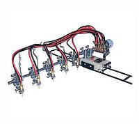Пяти резаковая газорезательная машина HUAWEI GCD5-100 для прямой резки металла толщиной 6-50 мм
