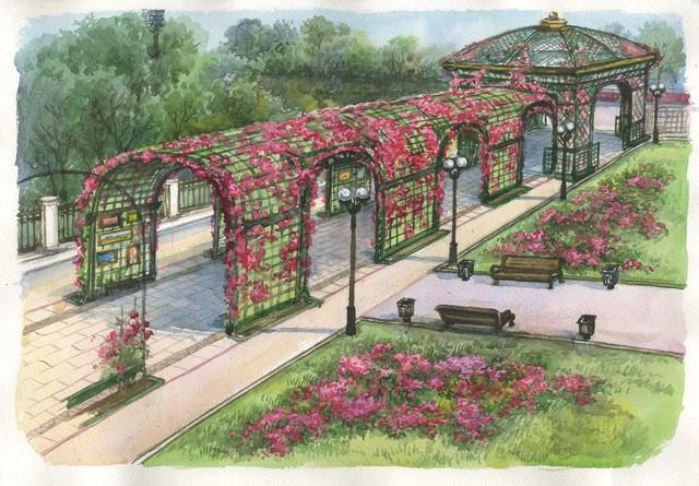 Немного истории про Городской сад
