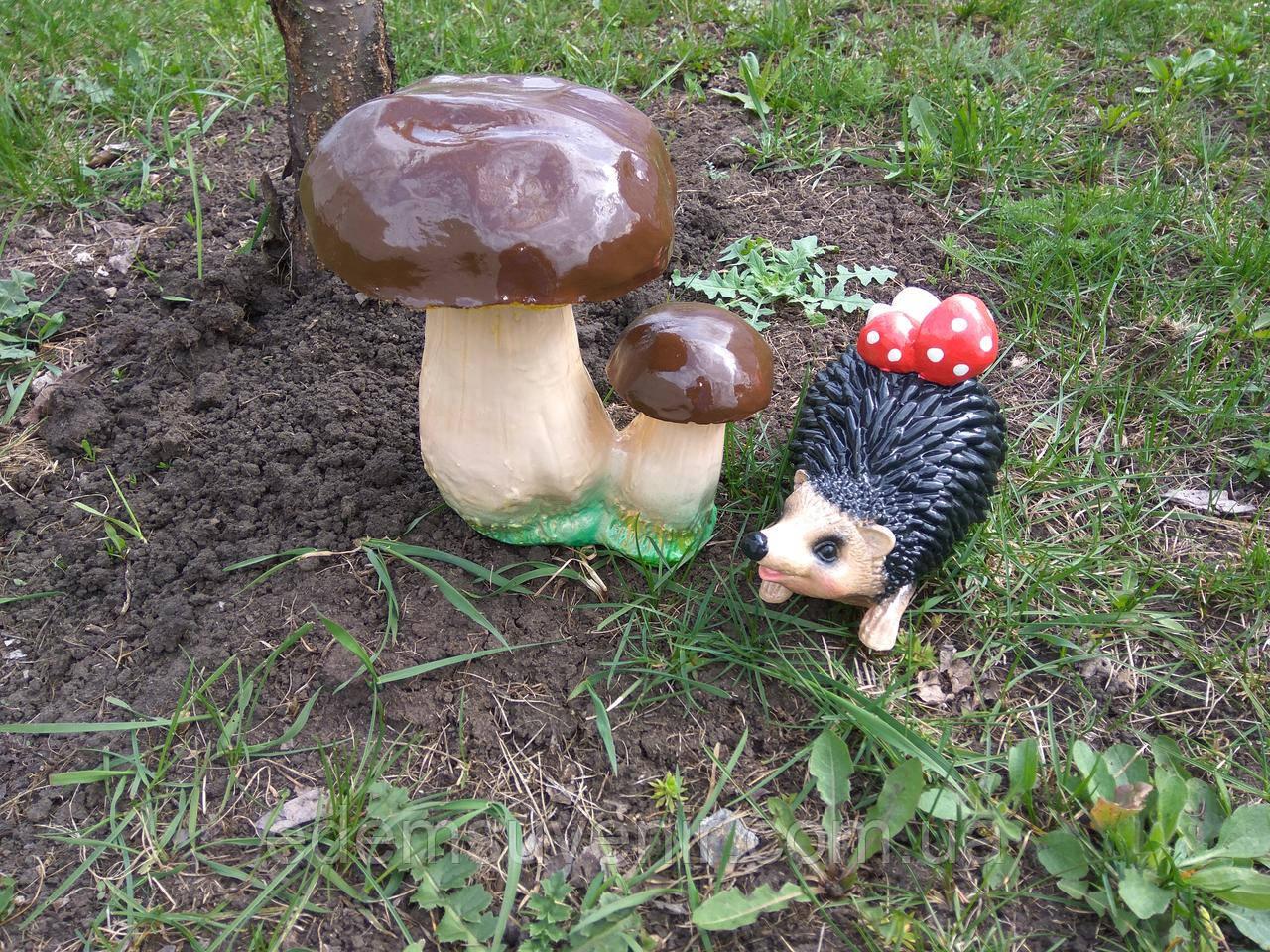 Садовая фигура Грибы и еж с грибами - Производитель садовых фигур Еdем в Харькове