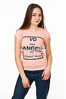 Женская футболка с принтом Angel цвет пудра p.44-46 Gusse 1865 SS26-1