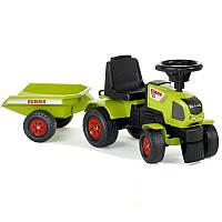 Трактор каталка с прицепом Claas Axos Falk 1012B. Машинка для детей