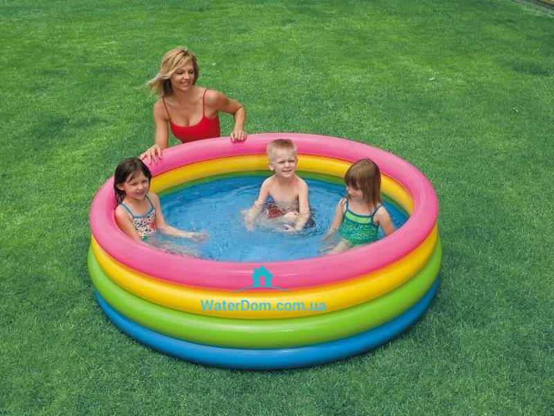 """Детский бассейн """"Радуга"""" Intex 56441 размером 168-45см, объём: 780л"""