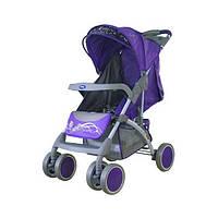 Коляска детская прогулочная Bambini King Butterfly цвет фиолетовый