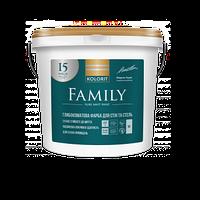 Латексная краска для внутренних работ KOLORIT FAMILY, 9 л