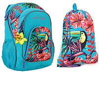 Набор для девочки 9-13+ лет Рюкзак, сумка для обуви Kite Style
