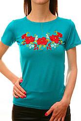 Жіноча футболка бірюзова