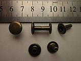 Хольнитен (заклёпка) односторонний чешский 11,7 х 11,7 х 11.7 мм антик, фото 2
