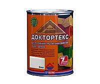 Лазурь-лак антисептический ІРКОМ ДОКТОРТЕКС ІР-013 для древесины, белый, 0,8л