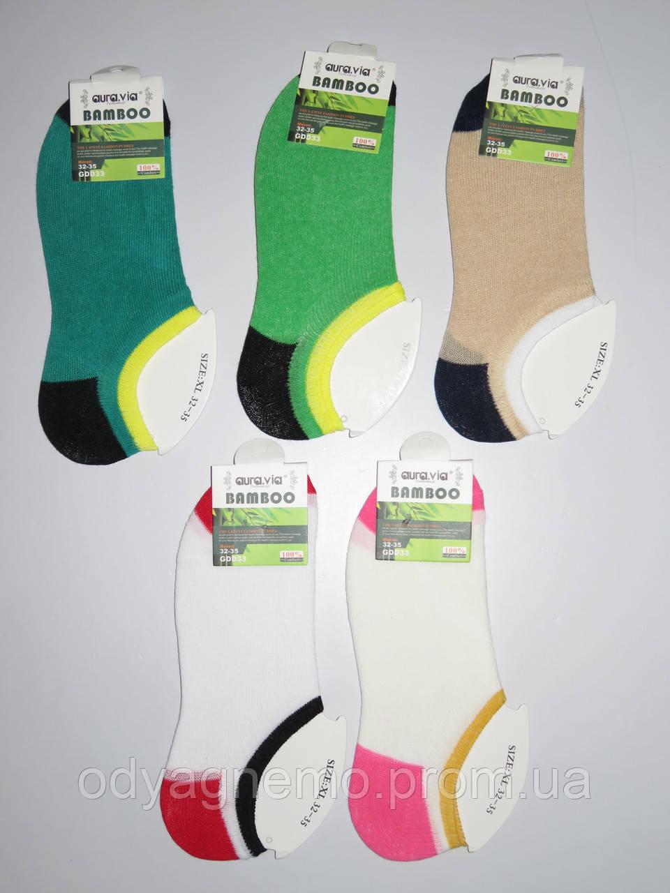 Детские короткие носки для девочек Aura.via оптом ,28/31-32/35 pp.