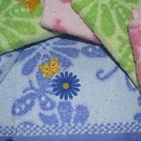 Метровые полотенца Бабочка-ромашка