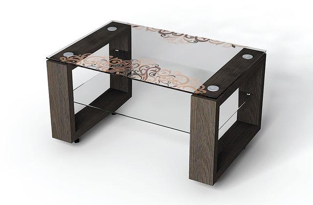 скляний журнальний стіл