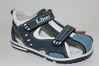 Детские кожаные сандалии для мальчиков ТМ B&G (Little Deer) (Украина) 21,22,24,25р.