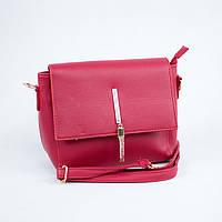 Маленькая стильная красная сумка через плечо