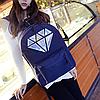 Женский школьный рюкзак с кристаллом